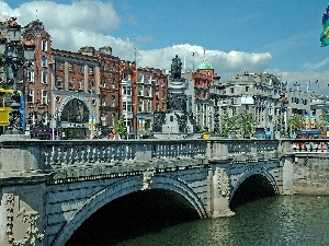 Ireland, bridge, panorama, town
