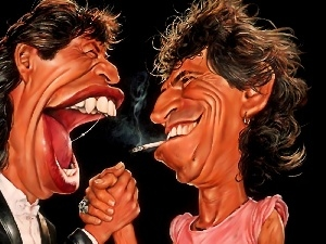 Jagger, Mick, Keith, Caricatures, Richards