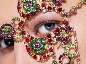decoration, jewellery, eye