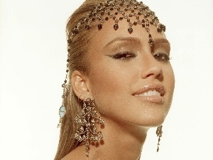 jewellery, headdress, Jessica Alba, ear-ring