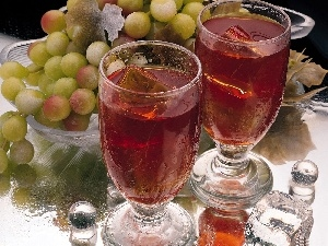 knuckle, Wine, Grapes, ice, glasses