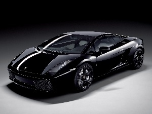 Lamborghini Gallardo, headlights, Black