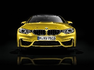 Lamps, Front, Golden, rings, BMW M4
