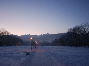 lane, winter, Mountains, Zakopane