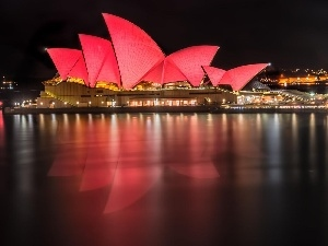 light, Sydney, Opera, Night, ##