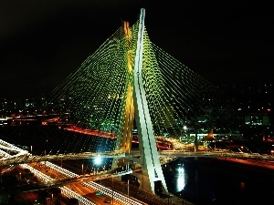 light, Night, Sao Paulo, bridge
