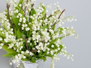 Lily of the Valley, Vase, bouquet