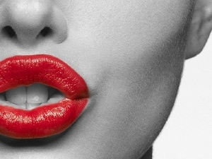 lips, Red, Women, passionate