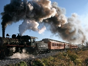 ##, smoke, locomotive, Wagons