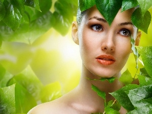 make-up, Leaf, Anna Subbotina