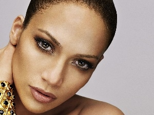 bracelet, make-up, face, actress, Attractive, Jennifer, Lopez