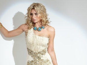 make-up, jewellery, Alyson Michalka, dress