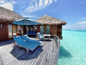 Maldives, Ocean, Hotel hall, terrace