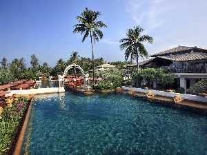 Maldives, tropic, Hotel hall, Pool