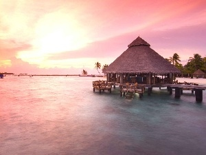 Maldives, Great Sunsets, Home, sea