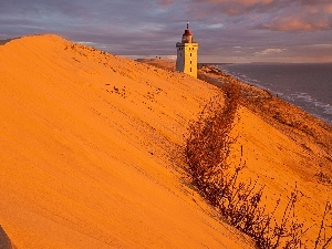 maritime, Lighthouse, Desert, Coast