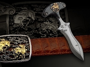 decorating, metal, dagger