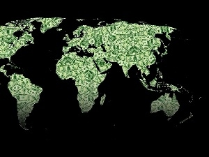 world, money, Map