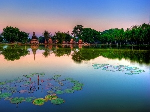 lake, Monument, Thailand