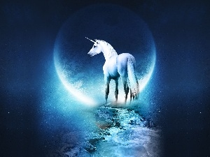 Way, moon, unicorn
