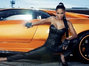motor car, Nicole Scherzinger, Orange