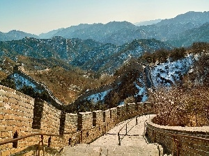 Mountains, China, Great Chinese Wall