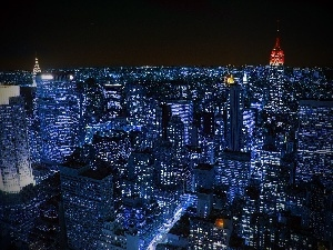 night, New York