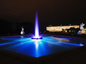Night, light, fountain, color
