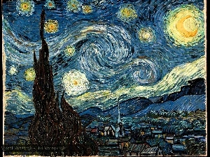 night, Starry, Vincent Van Gogh, the