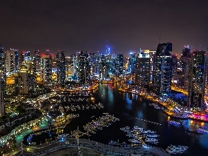 Town, night, Dubaj