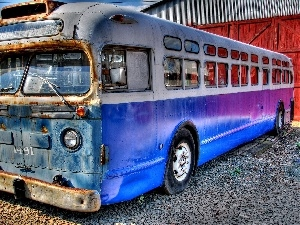 bus, Old car