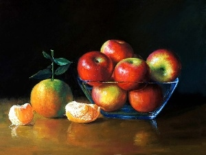 apples, orange, picture