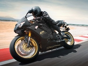 painting, Triumph Daytona 675, Black