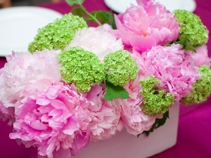 pink, peony, bouquet