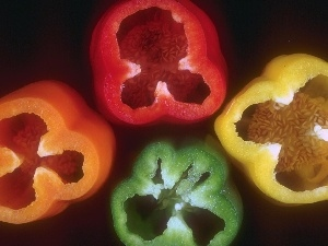 colors, peppers, four