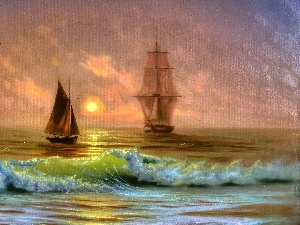 picture, sailboats