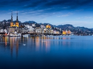Picture of Town, lake, Switzerland, Lucerne