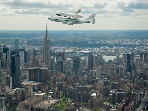 Planes, New York, panorama, town