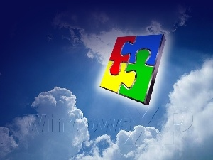 puzzle, windows, XP, system, clouds, operating