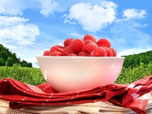 raspberries, bowl