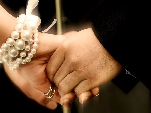 chaplet, ring, hands