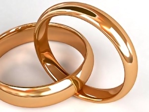 Golden, rings, Two