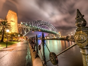 bridge, River, Sydney