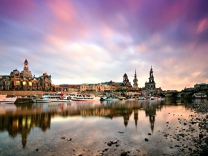 River, Town, Germany, Dresden