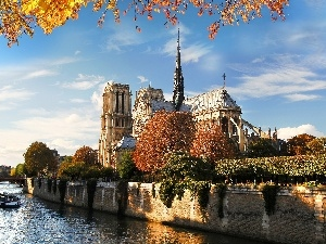 Paris, River, temple
