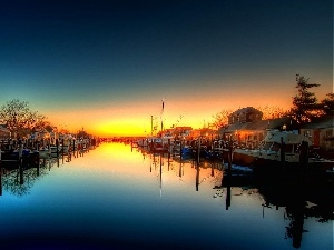 River, Great Sunsets, Harbour