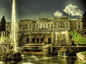 Russia, Peterhof, palace, fountain