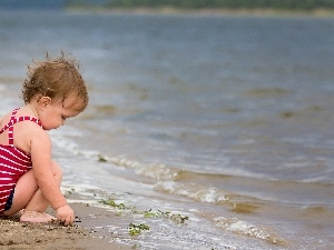 Sand, water, Kid, Beaches