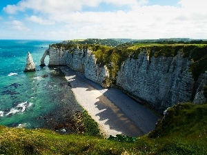 Beaches, sea, Cliffs
