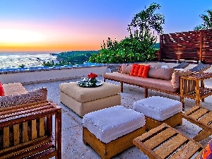 sea, relaxation, The hotel, terrace